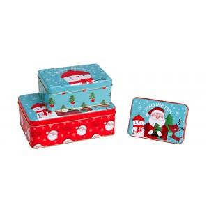 Χριστουγεννιατικα διακοσμητικα - Σετ 3 μεταλλικά κουτιά  KL-821-11 ΝΕΕΣ ΠΑΡΑΛΑΒΕΣ ΧΡΙΣΤΟΥΓΕΝΝΑ 2021