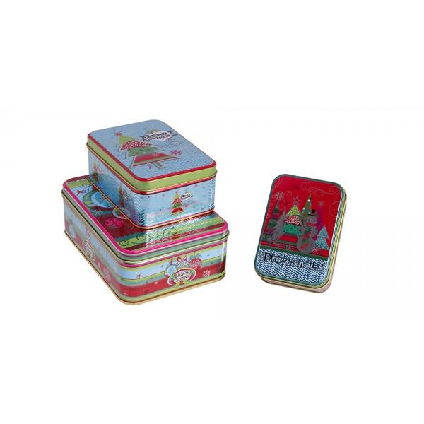 Χριστουγεννιατικα διακοσμητικα - Σετ 3 μεταλλικά κουτιά  KL-821-12 ΝΕΕΣ ΠΑΡΑΛΑΒΕΣ ΧΡΙΣΤΟΥΓΕΝΝΑ 2021