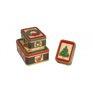 Σετ 3 μεταλλικά κουτιά  KL-821-16 Xρηστικά