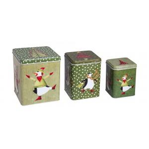 Σετ 3 μεταλλικά κουτιά  KL-822D