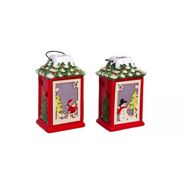 Χριστουγεννιατικα διακοσμητικα - Κεραμικό σπιτάκι με φως PT-861 ΝΕΕΣ ΠΑΡΑΛΑΒΕΣ ΧΡΙΣΤΟΥΓΕΝΝΑ 2021