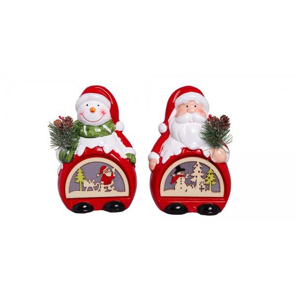 Χριστουγεννιατικα διακοσμητικα - Κεραμικό σπιτάκι με φως PT-862 ΝΕΕΣ ΠΑΡΑΛΑΒΕΣ ΧΡΙΣΤΟΥΓΕΝΝΑ 2021