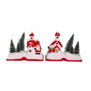 Χριστουγεννιατικα διακοσμητικα - Κεραμικό σπιτάκι με φως PT-863 ΝΕΕΣ ΠΑΡΑΛΑΒΕΣ ΧΡΙΣΤΟΥΓΕΝΝΑ 2021