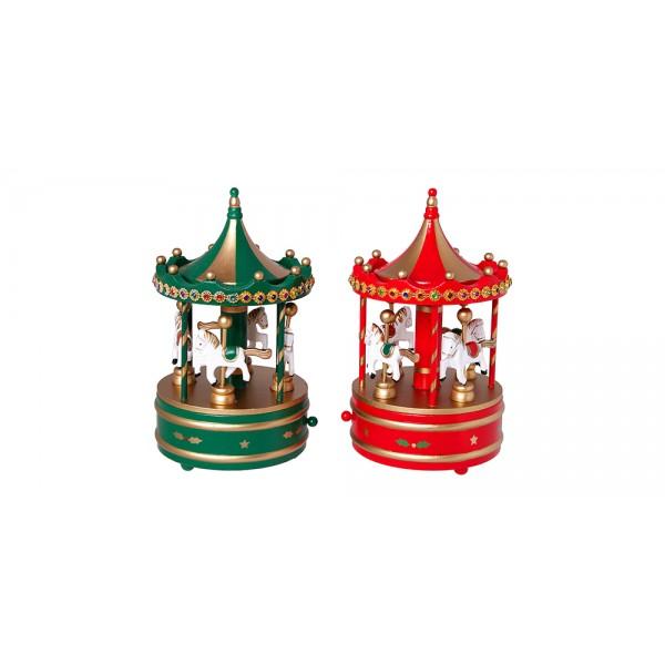 Χριστουγεννιατικα διακοσμητικα - Carousel 10*10*16εκ MB-810 ΝΕΕΣ ΠΑΡΑΛΑΒΕΣ ΧΡΙΣΤΟΥΓΕΝΝΑ 2021