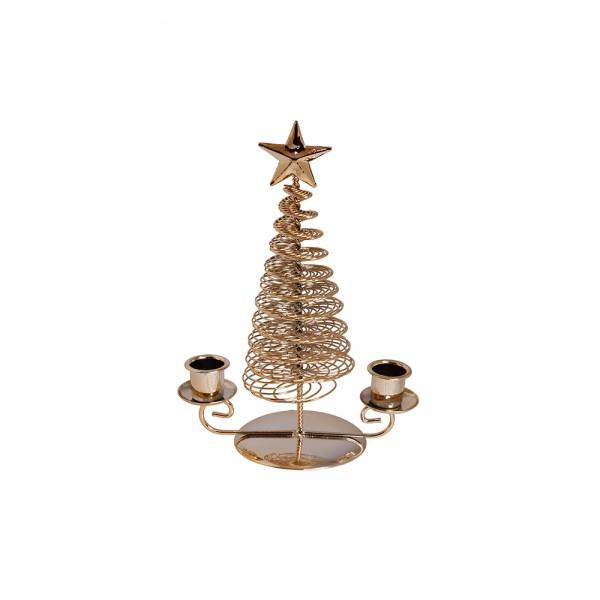 Χριστουγεννιατικα διακοσμητικα - Κηροπήγιο διπλό MB-819 ΝΕΕΣ ΠΑΡΑΛΑΒΕΣ ΧΡΙΣΤΟΥΓΕΝΝΑ 2021