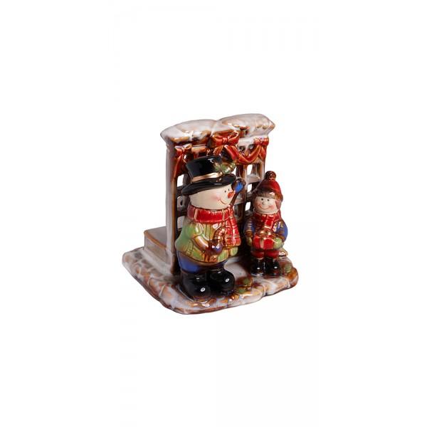 Χριστουγεννιατικα διακοσμητικα - Κηροπήγιο κεραμικό PT-617 ΝΕΕΣ ΠΑΡΑΛΑΒΕΣ ΧΡΙΣΤΟΥΓΕΝΝΑ 2021