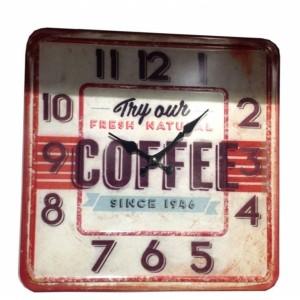 Ρολόι μεταλικό 40x40εκ TM-617A NEW Ρολόι