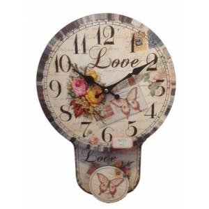 Ρολόι εκκρεμές 34εκ. UK-682B NEW