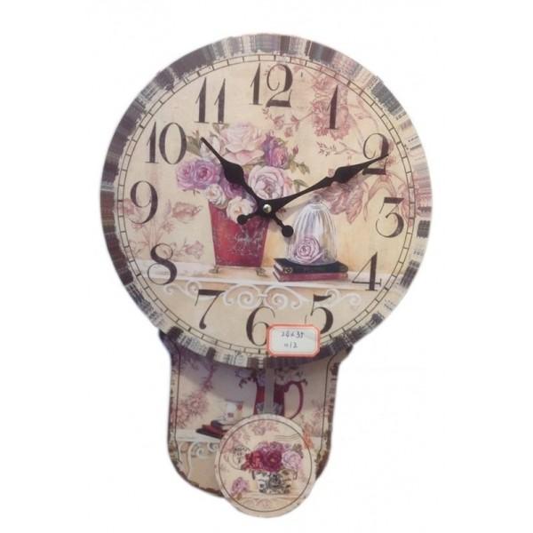 Ρολόι εκκρεμές 34εκ. UK-682C NEW Ρολόι