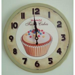 Ρολόι μεταλλικό 35εκ ΝΝ-198-3 NEW
